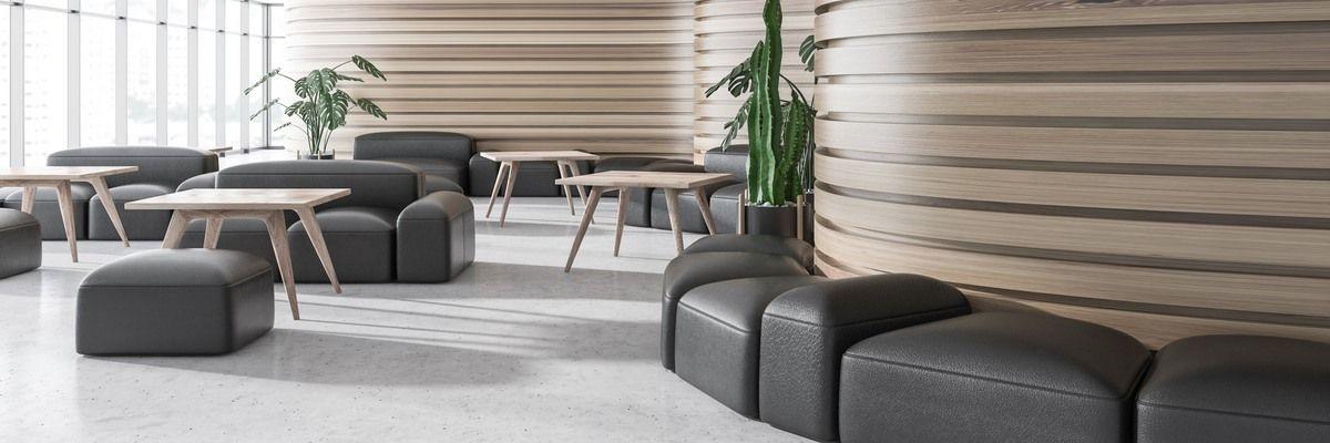 Интерьер и мебель в бизнес-зале
