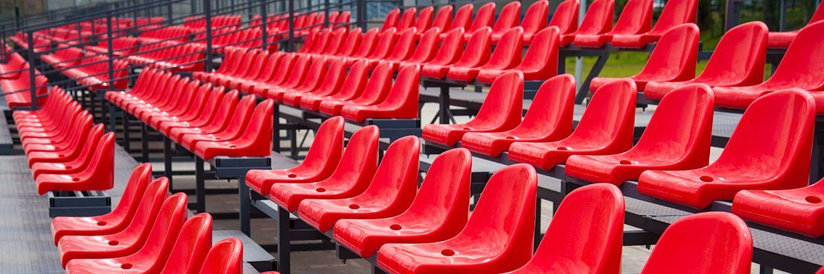 Пластиковые сиденья для трибун